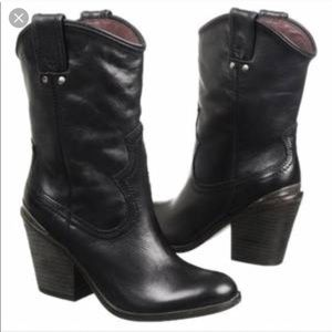 Lucky Brand Elle Cowboy Leather Boots